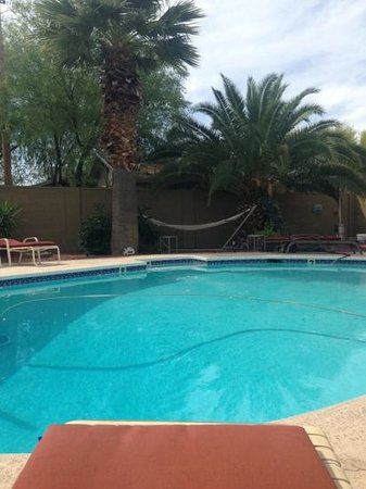 Arizona Sunburst Inn: The pool and a great spot to step into the shade.