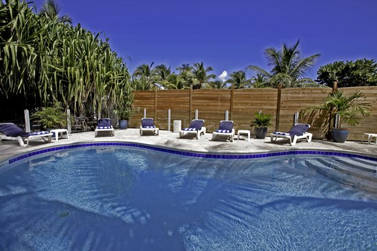 Blue Bay Beach Hotel: After sunbathing, dive in the refreshing pool.