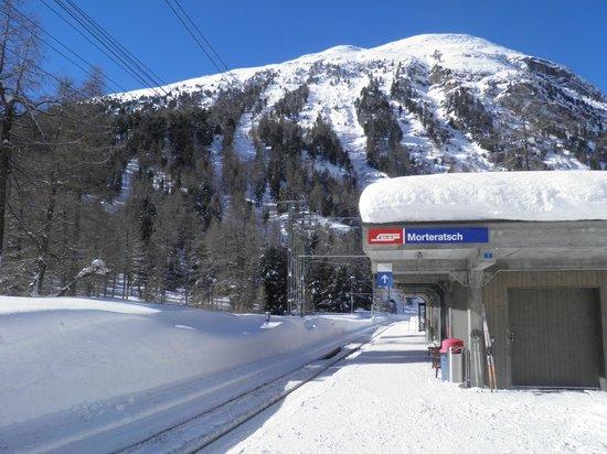 Club Med Saint Moritz Roi Soleil: La gare de Morteratsch