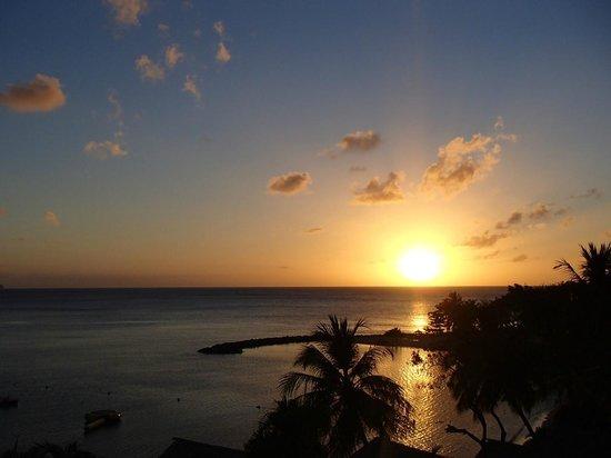 Windjammer Landing Villa Beach Resort: Sunset from our villa