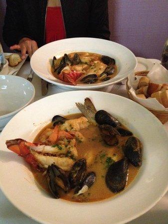 French Corner Bistro & Rotiserie: Lobster Bouillabaisse