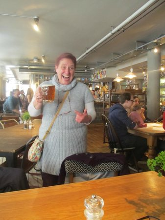The Cambridge Brew House: Mother in Law with a jug of Local Ale!