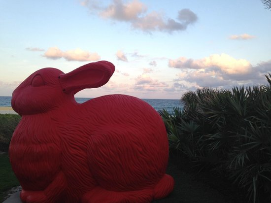 Boca Raton Resort, A Waldorf Astoria Resort : Giant bunny on the beach
