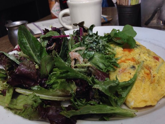 Cody's: Omelette with salad.