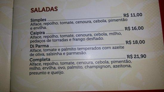 Restaurante Parmegianno: salada farta