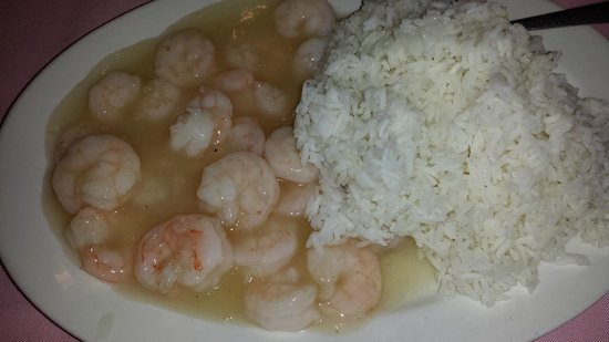 Chau Chow City Restaurant : What I received after trying hard to order fried rice with steamed mixed veggies and shrimp