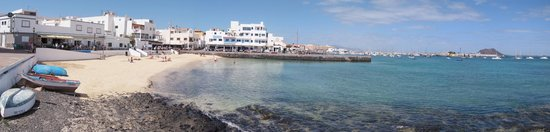 Las Marismas de Corralejo: Correlejo Harbour and beach