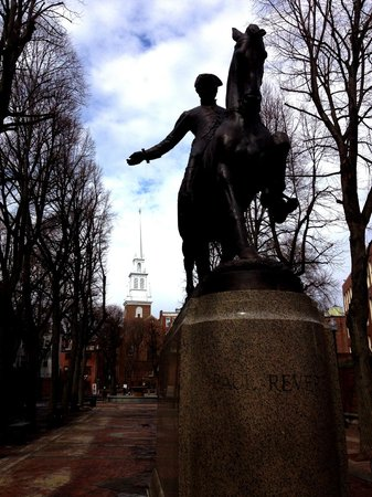 North End: Paul Revere Statue at The Paul Revere Mall