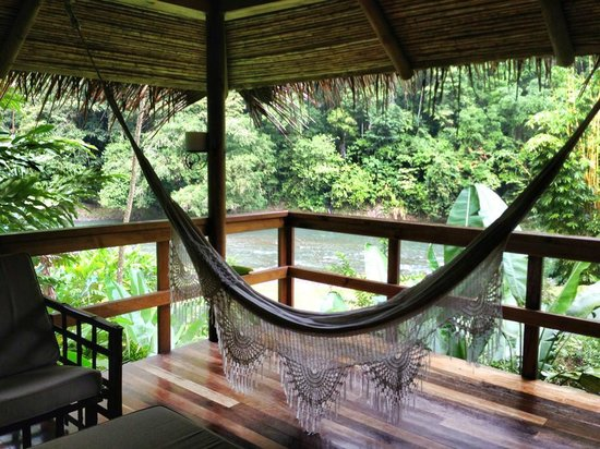 Pacuare Lodge: Hammock at our bungalow's porch