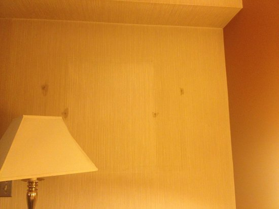 Days Hotel & Conference Center - Methuen MA: holes in walls where a painting used to be?