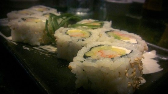 Wazaaabi Sushi House: California roll with crab