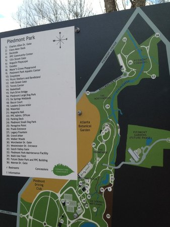 Piedmont Park: Map of the park and the recent expansion