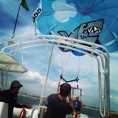 Sea Isle Parasail: Taking off!