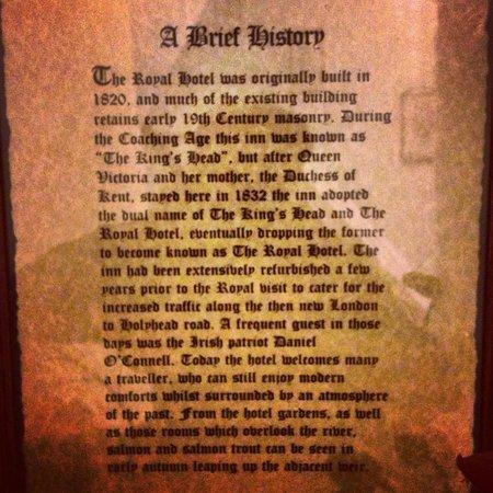Royal Hotel: A Brief History...