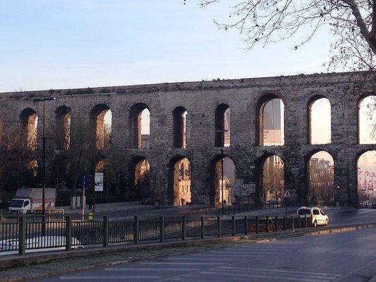 Upclose view of the Aqueduct. - Picture of Valens Aqueduct ...