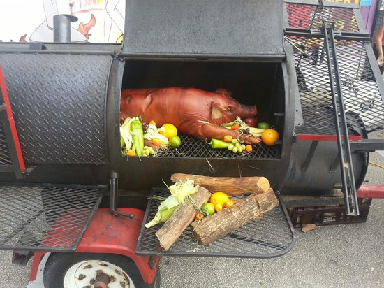 Bourbon Street BBQ and Southern Cooking: Whole hog cooking during a special event