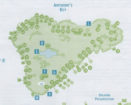 Anthony's Key Resort: Key cabin numbers