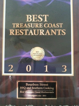 Bourbon Street BBQ and Southern Cooking: Winner of special award