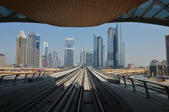 Dubai Metro: Вид из вагона
