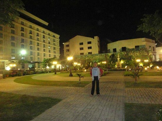 Senior Citizens Park: the plaza at night