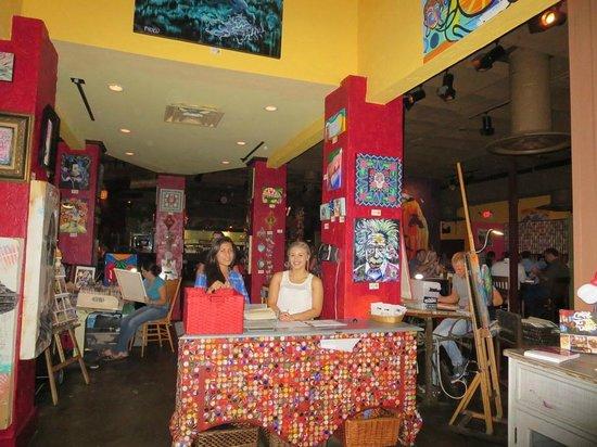 Cafe Tu Tu Tango: Hostess station - restaurant interior