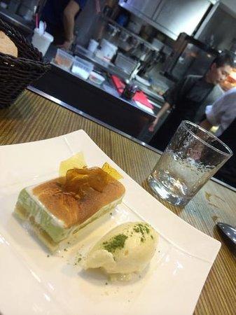 HANgoût Restaurant : le dessert et la cuisine ouverte