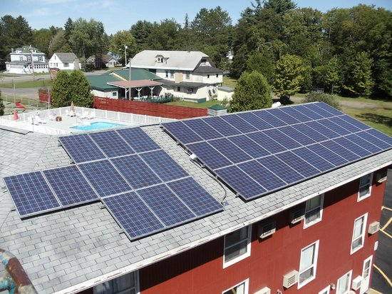 Shaheen's Adirondack Inn: Saving energy with our solar panels!