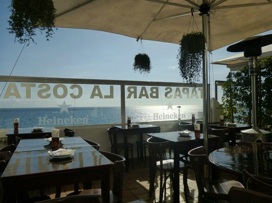 Tapasbar La Costa: La terrasse et sa vue