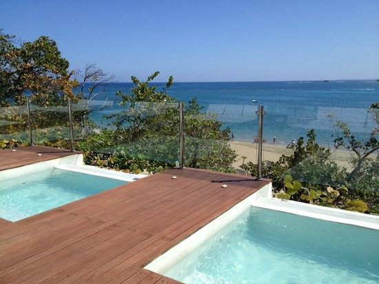 Casa Colonial Beach & Spa : Rooftop Hot Tubs with View of Ocean