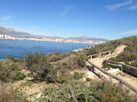 Hotel Magic Fenicia: View from Benidorm Island to the mainland - great trip
