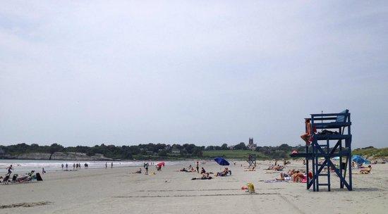 Sachuest Beach (Second Beach) : Second/Sachuest Beach, looking toward Purgatory/St. George's