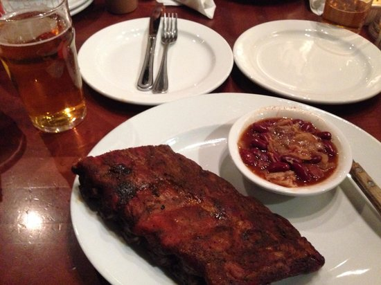 The Shaved Duck: Half slab with beans