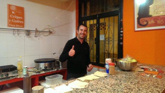 Creperie l'Oranger: the manager of l'oranger