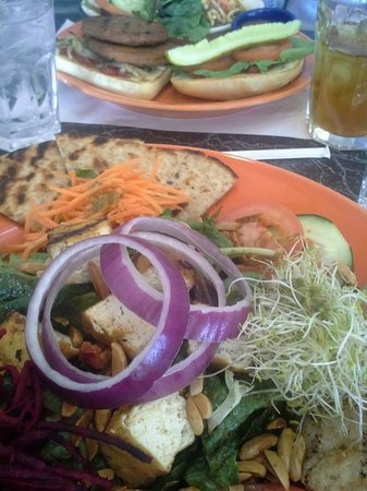 "The Cheeze Factory Restaurant: Big Salad & Double ""burger"""