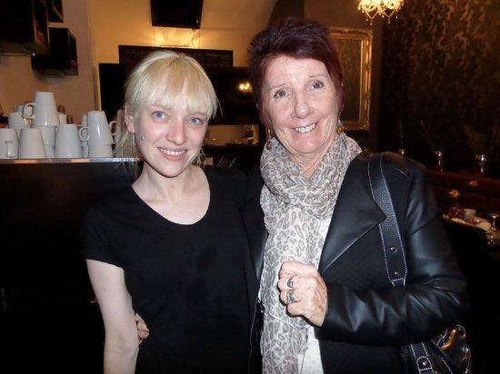 "Moka - Guild Hall: Natalie with her ""old"" PE teacher!"