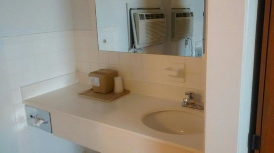 Westbridge Inn & Suites: Vanity area (single king room)
