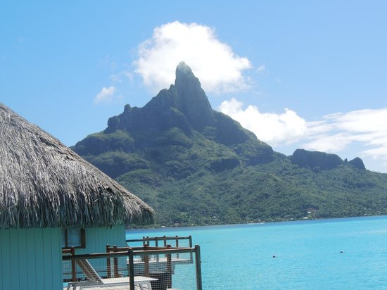 Le Meridien Bora Bora: The island view from our deck (Room 340)