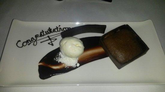 Carton House Hotel & Golf Club: Chocolate Fondant