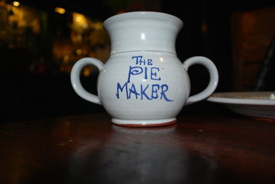 The Pie Maker : Pie and tea on a cold wet evening.