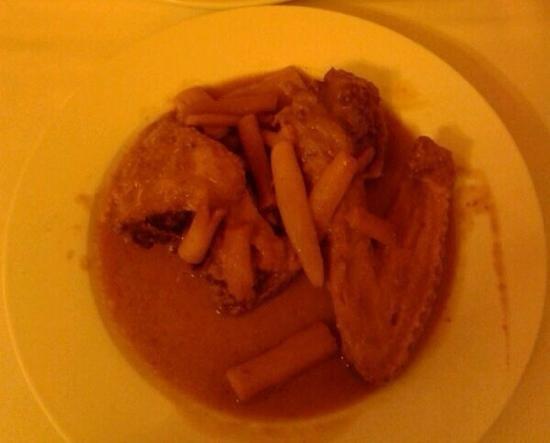 Restaurant Vall-Llobrega: anac amb salsafins, (me encanta)