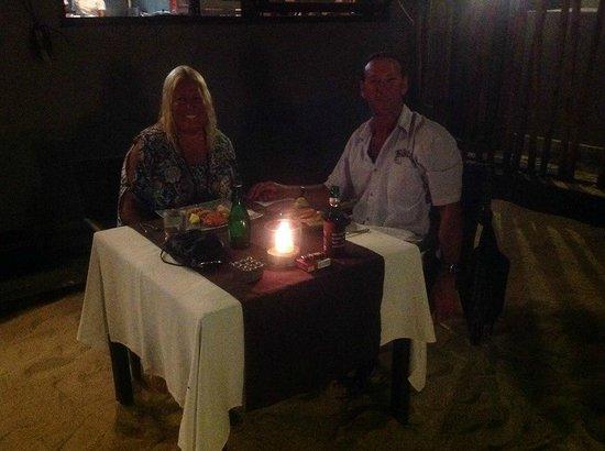 Indiana Kenanga Villas: Dinner in French restaurant on the beachfront