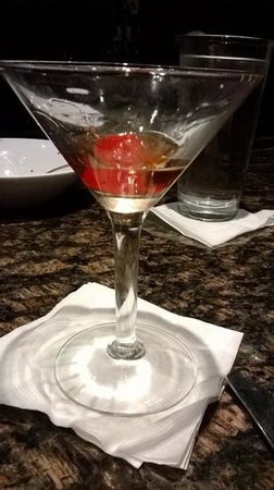 Red Lobster: hubby's manhattan(2!)