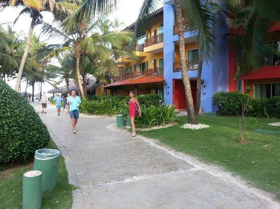 Caribe Club Princess Beach Resort & Spa: a la sortie des chambres