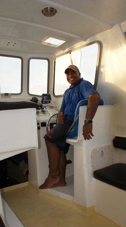 Navini Island Resort: Aritema (Arie), our driver!