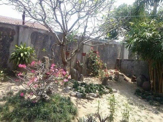 B'Lan Homestay: Le jardin a l 'arrière. Très calme :)