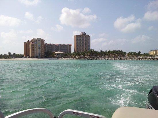 Divi Aruba Phoenix Beach Resort: View of the DIvi Phoenix from the pontoon