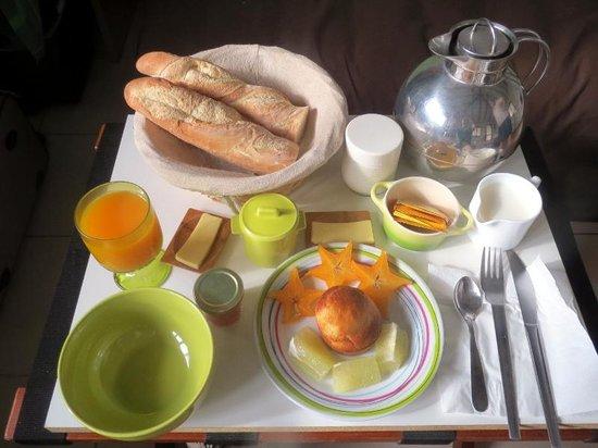 Bora Bora Ecolodge : オーダした朝食