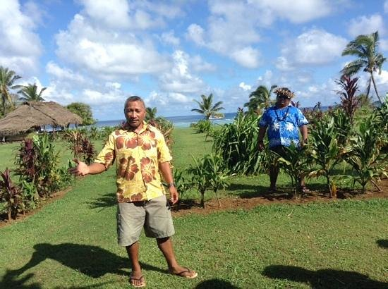 Aitutaki Punarei Culture Day Tour: Ted and Leo - thanks gents.
