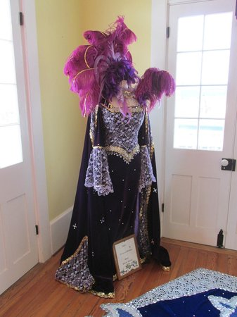 Mardi Gras Museum: costume display at entrance