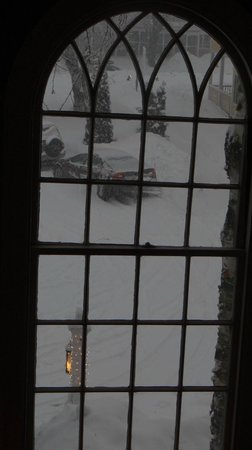 The Bethel Inn Resort: looking out one of the old windows in the stairway